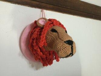 ライオンのハンティングトロフィーあみぐるみ【サンプルセール】の画像