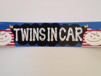 TWINS IN CAR ステッカー 女の子の画像