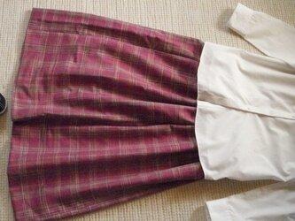 セール!信州紬の着物でリメイク スカートの画像