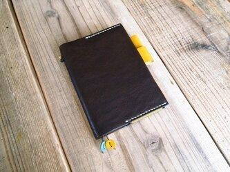 オイルドレザーの手帳カバー(ほぼ日文庫サイズ)焦茶の画像