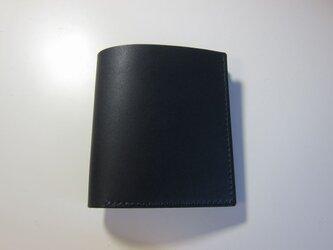 二つ折り財布 ミニ(ネイビー)の画像