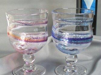 色雲母 和飲グラス ペアセットの画像