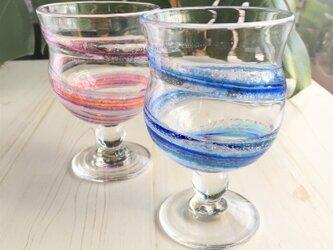 色雲母和飲グラス ペアグラス プレゼント ギフトにの画像