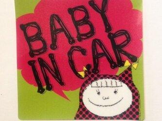 BABY IN CAR ステッカー 女の子の画像