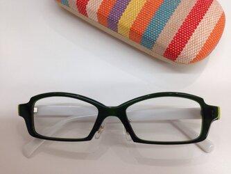 さわやかグリーンメガネ(メガネフレーム)の画像