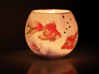 揺らぐ金魚のぼんぼりの画像