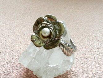 Silver 花リングの画像