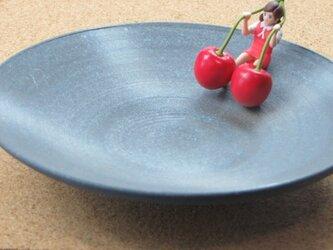 お皿 黒 ia-029の画像