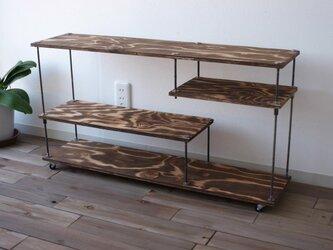 wood iron shelf 500*910*225の画像