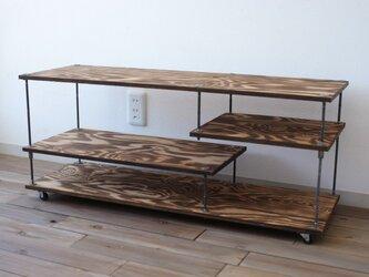 wood iron shelf 400*910*300の画像