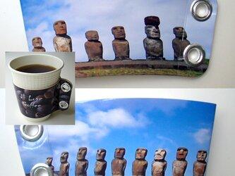 コーヒースリーブ♪モアイの画像