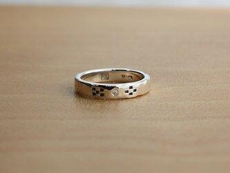 絆ミンサー柄金剛石入指輪 rr-36の画像