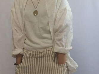 Cardigan /Washable white linenの画像