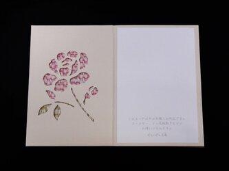 手織りカード「ばら」-09の画像