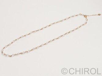クオーツ(4mm)ネックレス/14kgfの画像