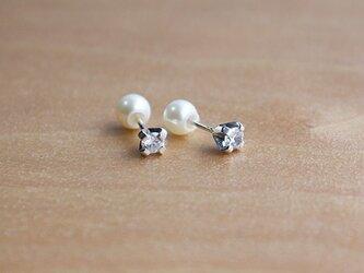 光石入淡水真珠受耳飾 rpc-30の画像