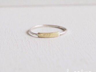 【再販】- BR/SV - Flat Bar Ringの画像