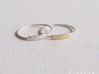 【再販】Flat Bar Ring Setの画像