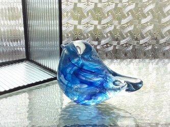 ブルーパープルの小鳥☆ご注文前にメッセージをお願いいたしますの画像
