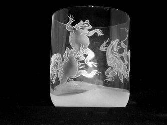鳥獣グラス(負けウサギ)の画像