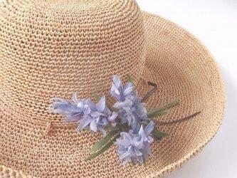 ふんわり淡紫色 星の花 * シルクジョーゼット製 * コサージュの画像