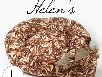 SALE!! おしゃれペットベッド メルトチョコレート ミニトートバッグ付きの画像