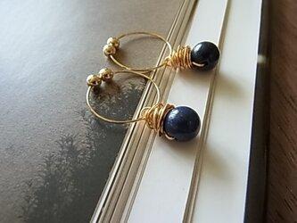lapis lazuliイヤリング(ノンホールピアス)の画像