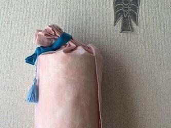 ☆再販ダイダイ柄のヨガマットケース ベビーピンクMサイズの画像
