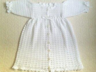 総模様編みのベビードレスの画像