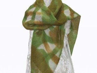 麻広巾ストール 2の画像