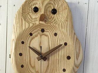 ふくろうの掛時計・お目覚め(小)の画像