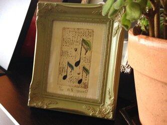 銅版画「雨音」の画像