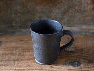 黒釉カップ(ハンドルあり)の画像