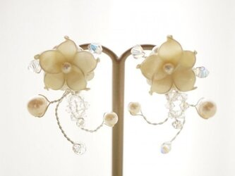 E-928 小花と小枝イヤリングの画像