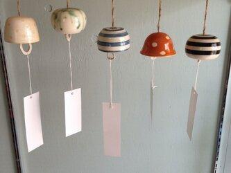 陶器の風鈴の画像