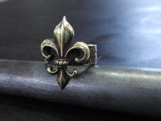 フレア彫模様真鍮ブラスリング 指輪サイズ1号~15号調整無料/タイリング,トゥリングにもの画像