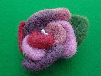 バラブローチ(ピンク&パープル) CS0068の画像