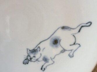 染付5寸猫皿 36の画像