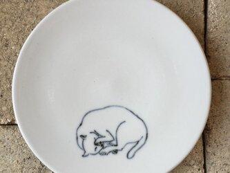 染付4寸猫皿 29の画像