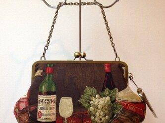 ゴブランがま口バッグ【ワイン】の画像