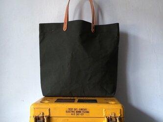 パラフィン帆布(ドラゴン防水)シンプルトートバッグ0201の画像