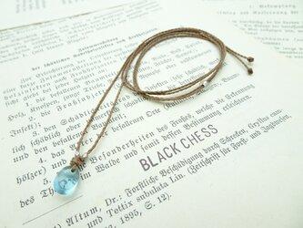 ベネチア産ガラスビーズのネックレス N39の画像