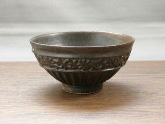 黒結晶釉 茶碗の画像