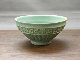 錆青磁釉 茶碗の画像