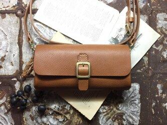 *受注製作*wallet bag(camel)の画像