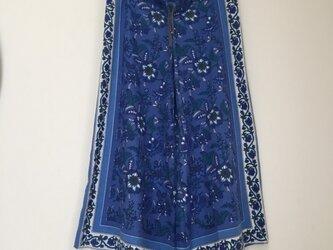 jaipur フレアパンツ blueの画像