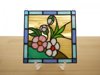 ステンドグラス ミニパネル 野の花 15cmの画像