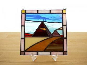 ステンドグラス ミニパネル ピラミッド 15cmの画像