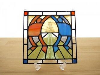 ステンドグラス ミニパネル ストレッチ 15cmの画像