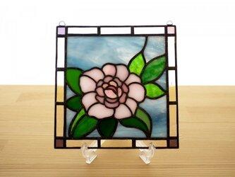 ステンドグラス ミニパネル 牡丹 15cmの画像
